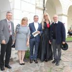 PGO Feichter,Obfrau R: Honsig-Erlenburg,Bischofvikar Dr. Sitar, Ruth Hanko,Pfr. Weißeisen